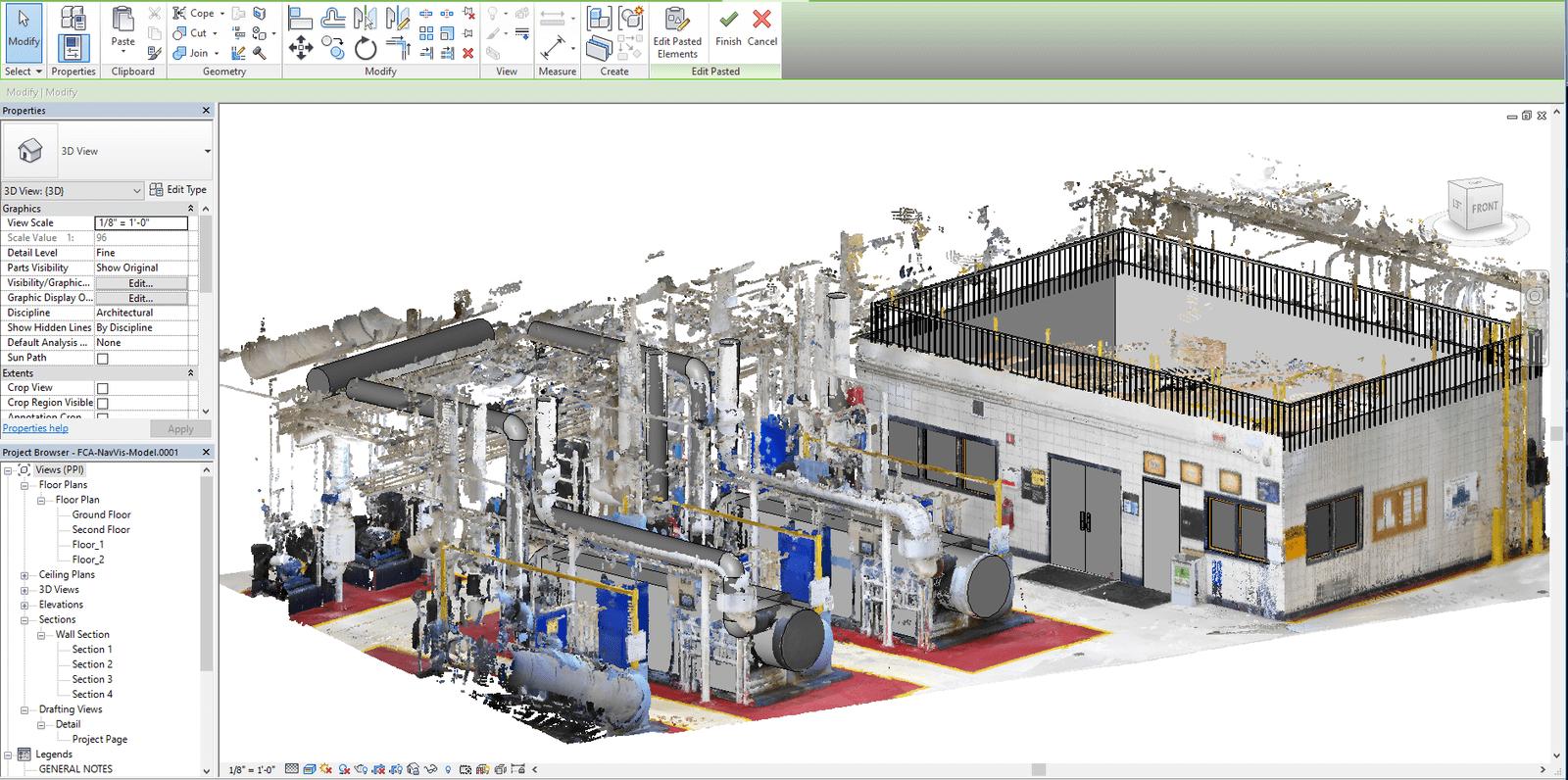 NavVis IndoorViewer add-in for Autodesk Revit