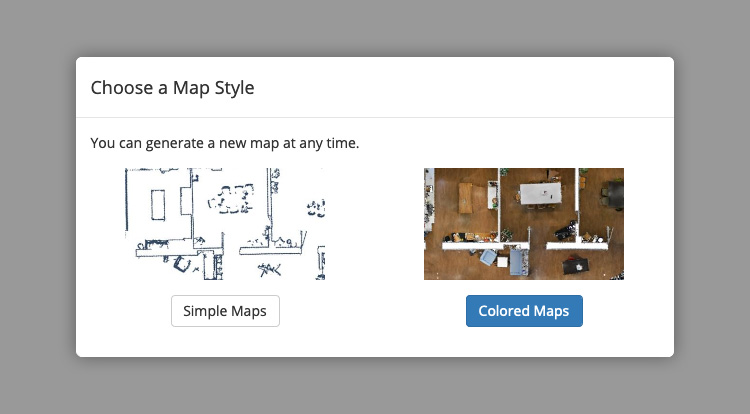 NavVis IndoorViewer Colored Map Option