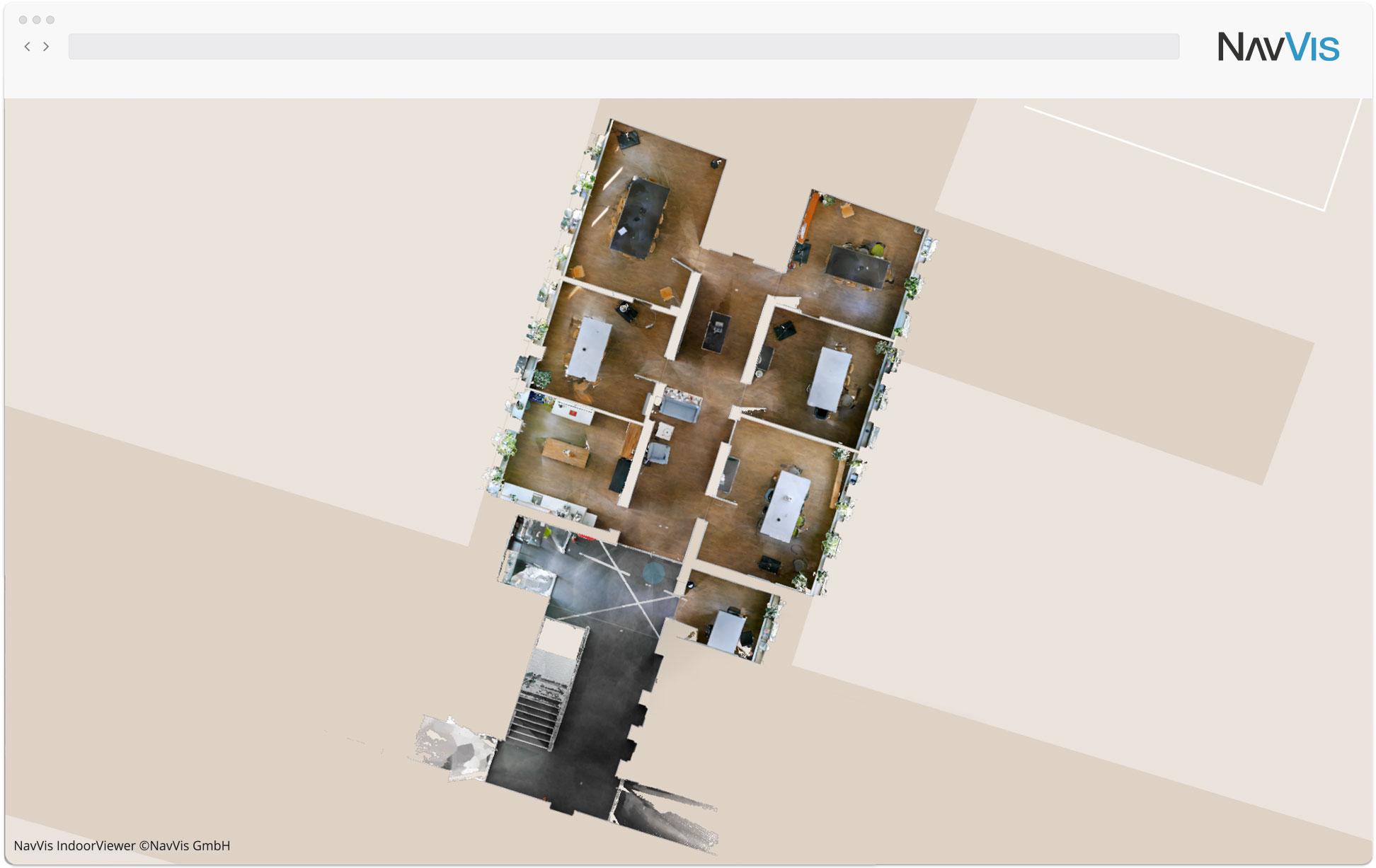 NavVis IndoorViewer Interactive Floor plan