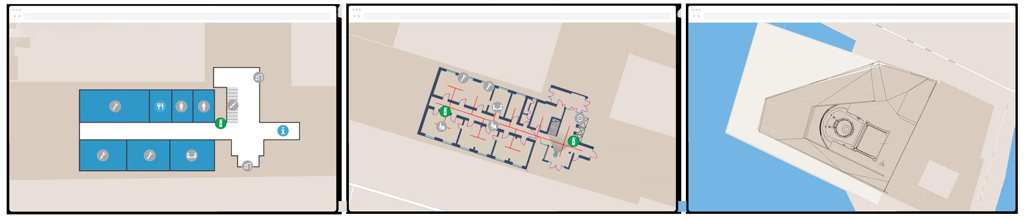 Digital floor plan created by NavVis IndoorViewer