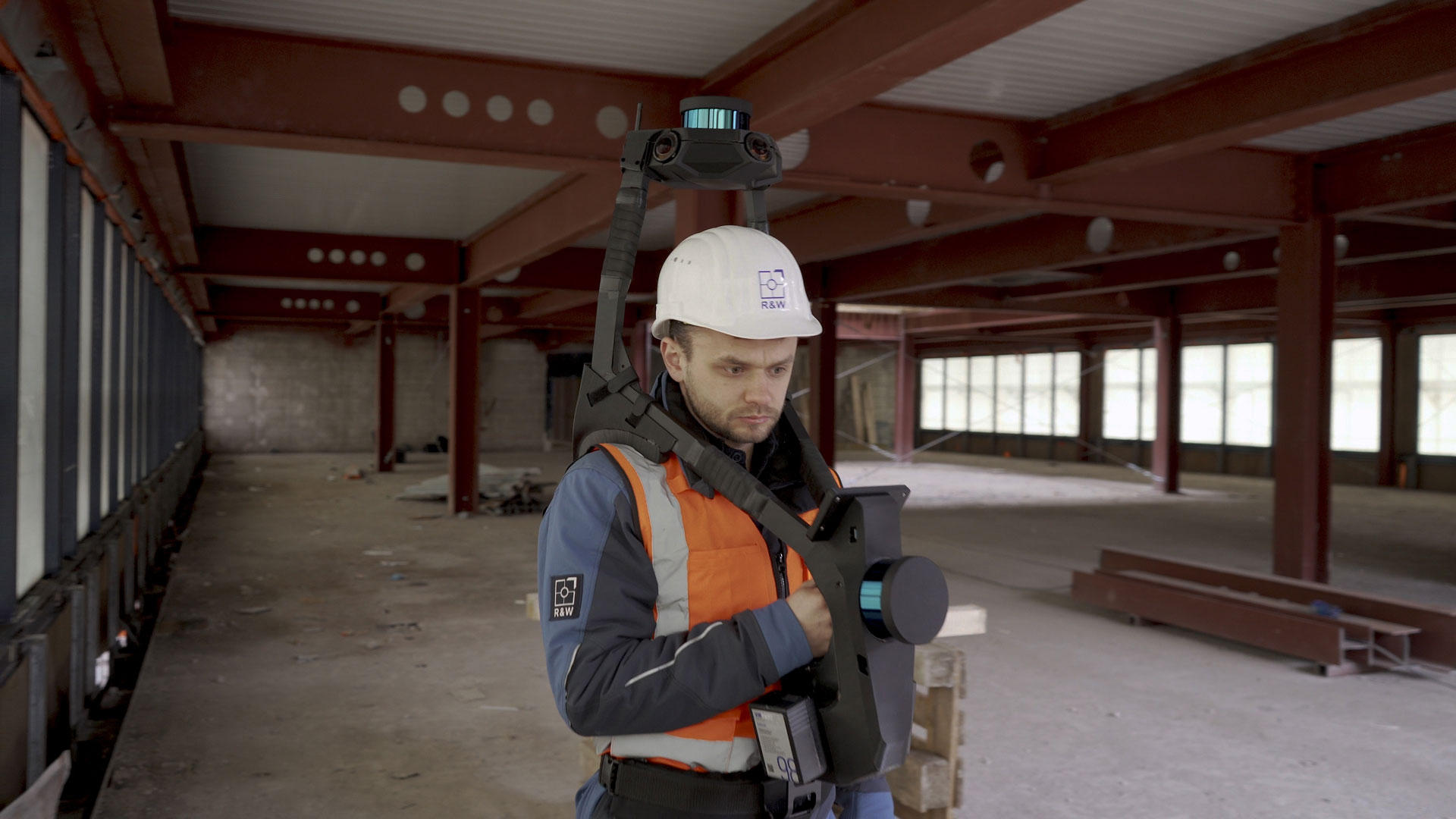 Scanning a high-rise building project in Berlin with NavVis VLX